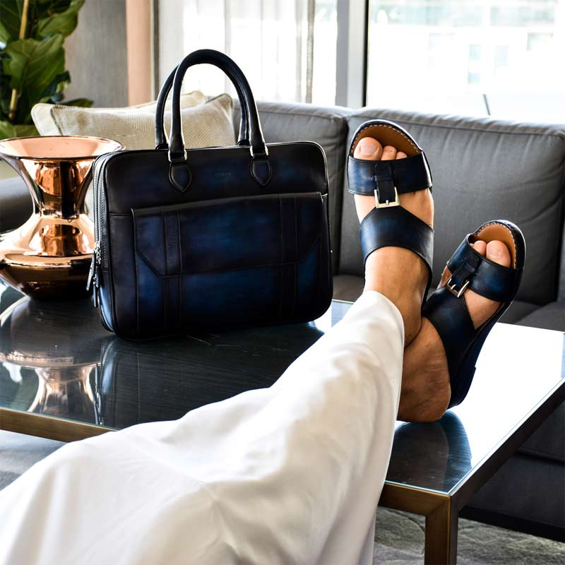 Patina Sandals Navy Blue